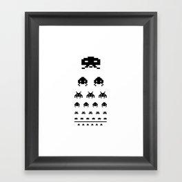 Gamers eye test Framed Art Print