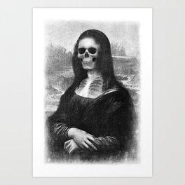 Mona Lisa - Xray Art Print