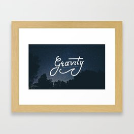 Gravity wants to bring me down Framed Art Print