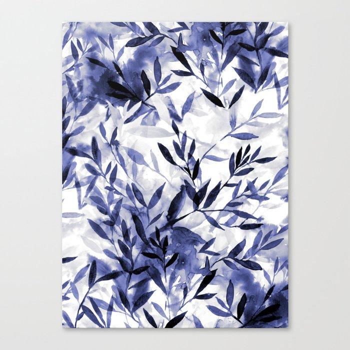 Changes Indigo Canvas Print