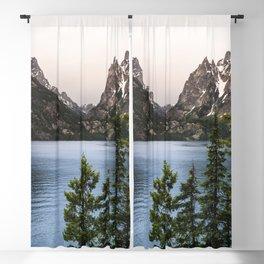 Grand Teton Wanderlust Lake Adventure - Nature Photography Blackout Curtain