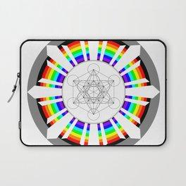 Metatron's Cube in Dharmachakra Laptop Sleeve