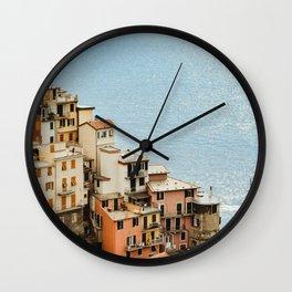 riomaggiore coast Wall Clock