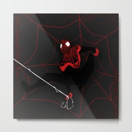 Ultimate Spider-man Miles Morales Metal Print