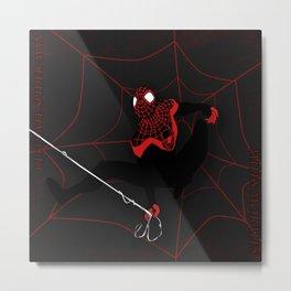 Ultimate Spider-man Miles Morales Metal Print