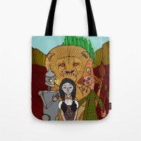 oz Tote Bags featuring Oz by nu boniglio