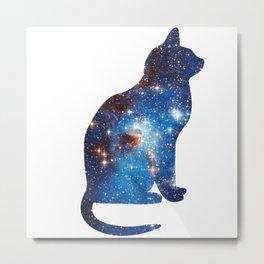 cosmic cat triangle Metal Print