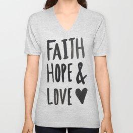Faith Hope and Love Unisex V-Neck