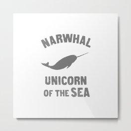 Narwhals Metal Print
