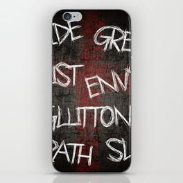 Seven deadly sins iPhone Skin