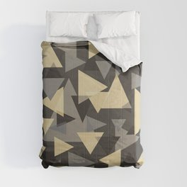 The dark side, mix of elegant abstract chaotic triangles scattered in all directions pattern  Comforters