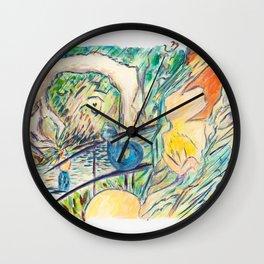 X voYages de Zed (toile 12 - série 1)) Wall Clock
