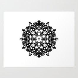 Roses Mandala Art Print
