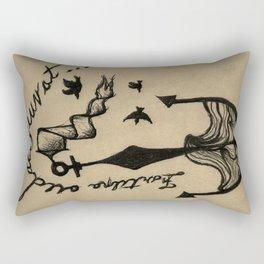Anchor, Navy Birds Rectangular Pillow
