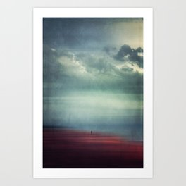 Nothing Matters - Abstract Minimal Beach Scene Art Print