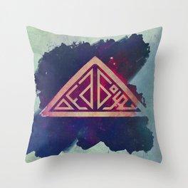 Ded Boyz Logo Painted Throw Pillow