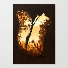 Squirrels in the Fall Canvas Print