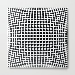 op art - dot bulge Metal Print