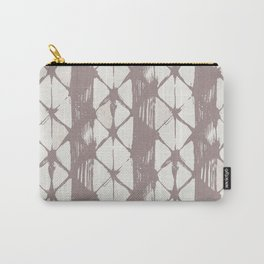 Simply Braided Chevron Red Earth on Lunar Gray Carry-All Pouch