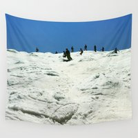 skiing Wall Tapestries featuring Spring Skiing on Superstar by BACK to THE ROOTS