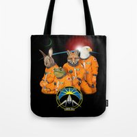 starfox Tote Bags featuring STARFOX - The Lylat Space Program by John Medbury (LAZY J Studios)