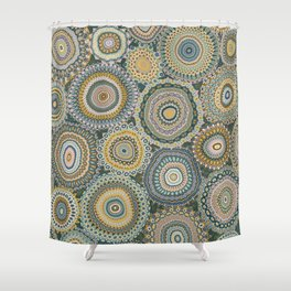 Boho Patchwork-Mineral Colors Shower Curtain