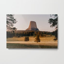 Devil's Tower, Wyoming - shot on film Metal Print