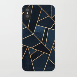 Navy Stone iPhone Case