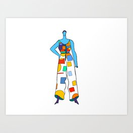 Candy Color Blocks Art Print