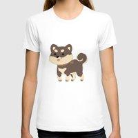 shiba inu T-shirts featuring Black Shiba Inu  by SparklePrince