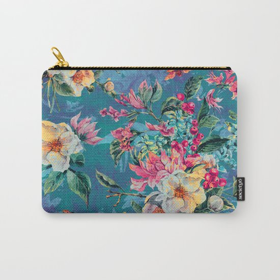 Floral Ocean III Carry-All Pouch