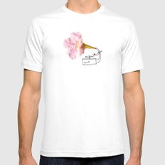 Victroflower White Mens Fitted Tee MEDIUM