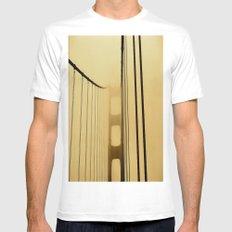 SF Golden Gate Bridge  Mens Fitted Tee MEDIUM White
