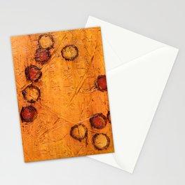 Orange Dots (Orange Abstract) Stationery Cards