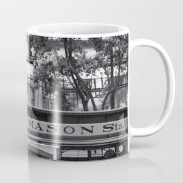 San Francisco Cable Car Black and White Coffee Mug