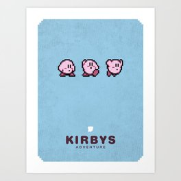Kirbys Adventure Art Print