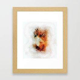 Cute Fox Framed Art Print