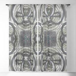 Mountain bike wheel rosette Sheer Curtain