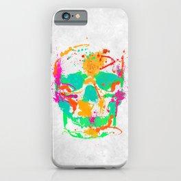 Dead Color Skull iPhone Case