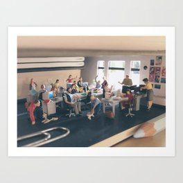 Our Corner of Office Art Print