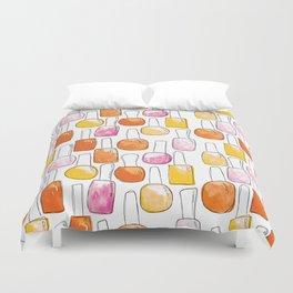 Nail Polish | Orange Palette Duvet Cover