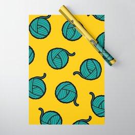 Wool & Yarn Pattern Wrapping Paper