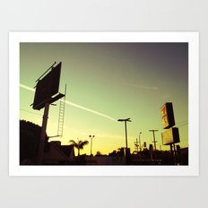 Chemtrail Sunset Art Print