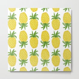 Pineapple Topsy Turvy Metal Print