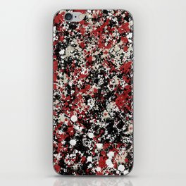 paint drop design - abstract spray paint drops 6 iPhone Skin