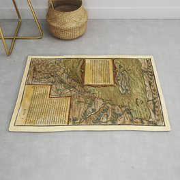 Map Of The Holy Land 1544 Rug