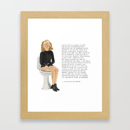 Gloria Steinem Framed Art Print