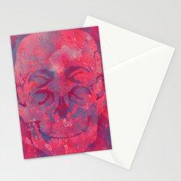 4 eyes skull camouflage pink Stationery Cards