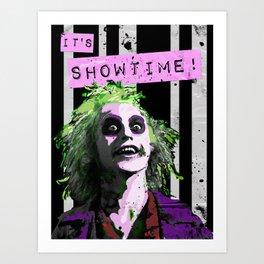 """BEETLE JUICE """"It's Showtime! Art Print"""