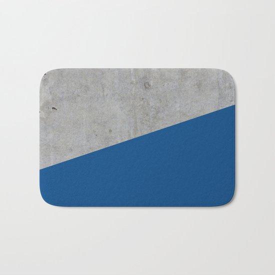 Concrete and lapis blue color Bath Mat